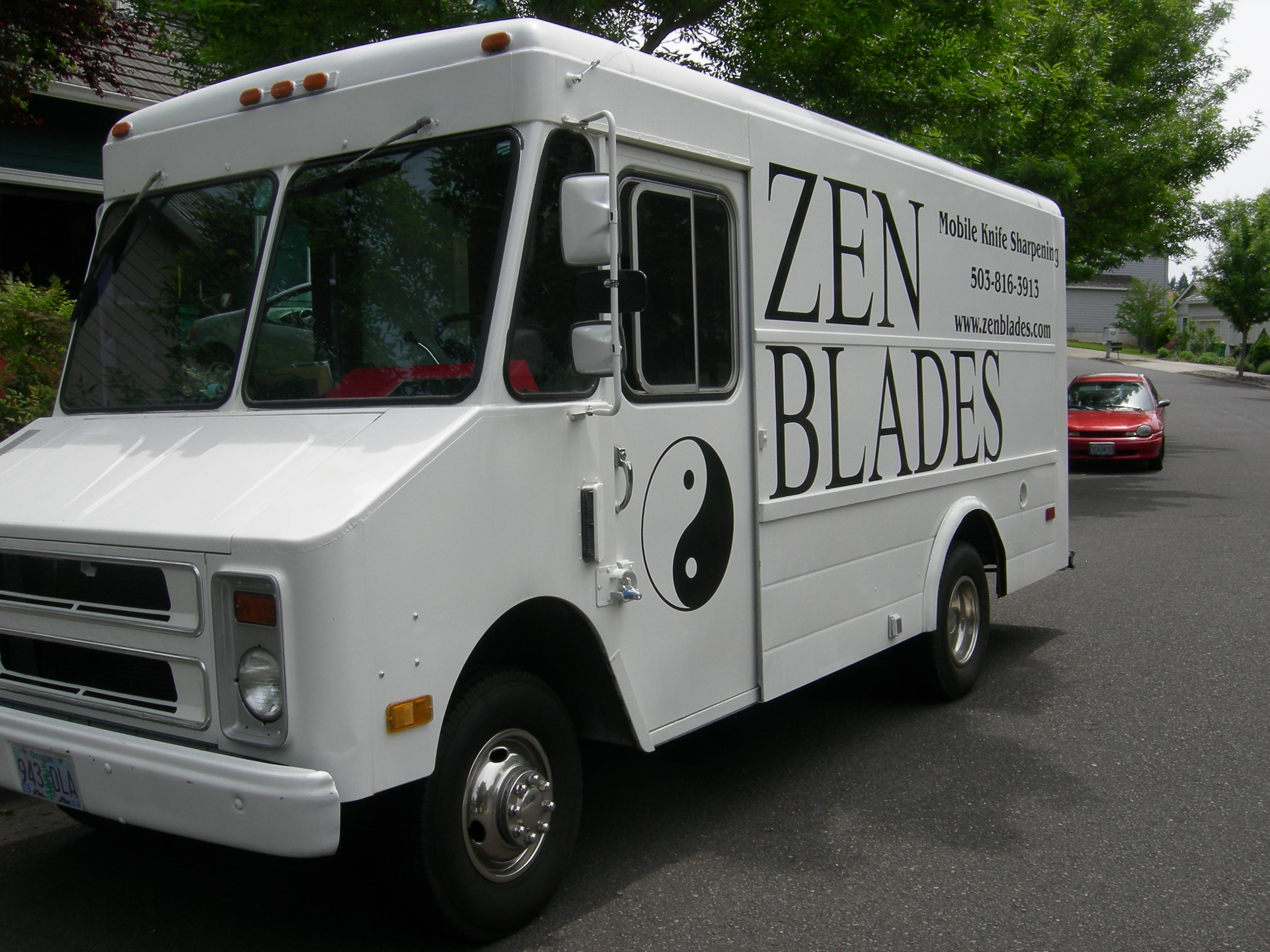 the Zen Blades mobile knife sharpening van